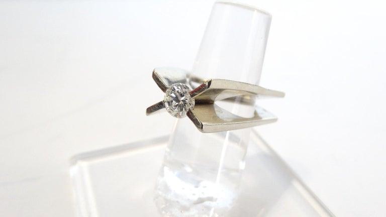 1960s Whitt for Georg Jensen 1 Carat Diamond Ring For Sale 7