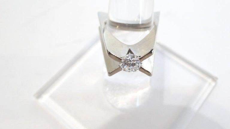 1960s Whitt for Georg Jensen 1 Carat Diamond Ring For Sale 8