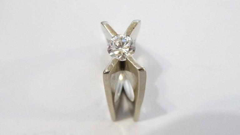 1960s Whitt for Georg Jensen 1 Carat Diamond Ring For Sale 1