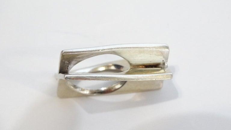 1960s Whitt for Georg Jensen 1 Carat Diamond Ring For Sale 2