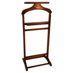 1960s Wood Bedroom Valet Stand