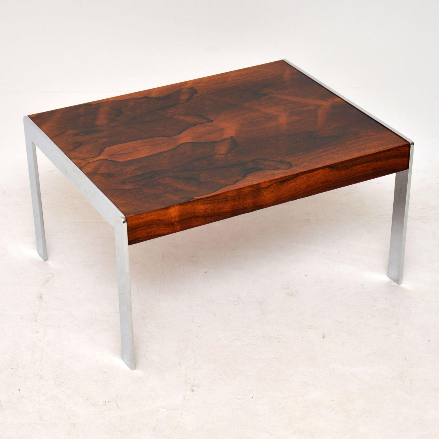 1960 S Wood And Chrome Nesting Coffee Table By Merrow Associates