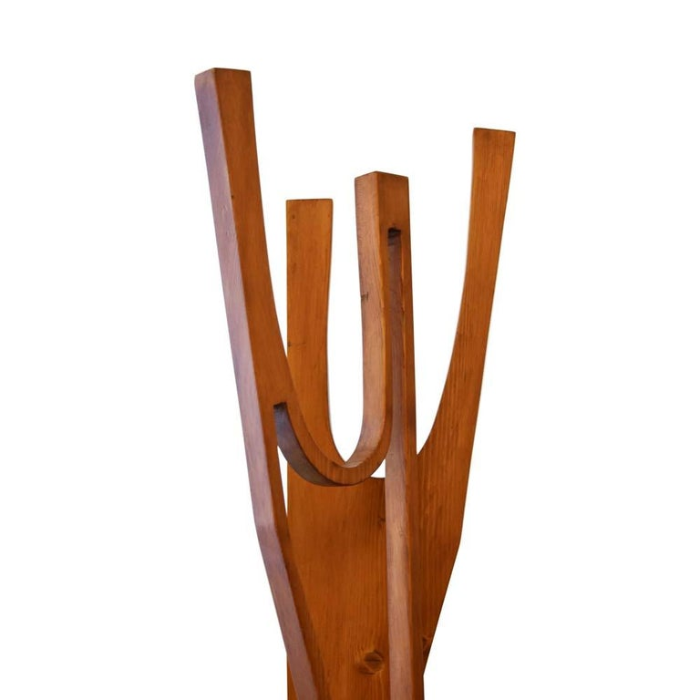 Mid-Century Modern 1960s Wooden Figure Sculpture Made in Italy by Luigi Cipollone For Sale