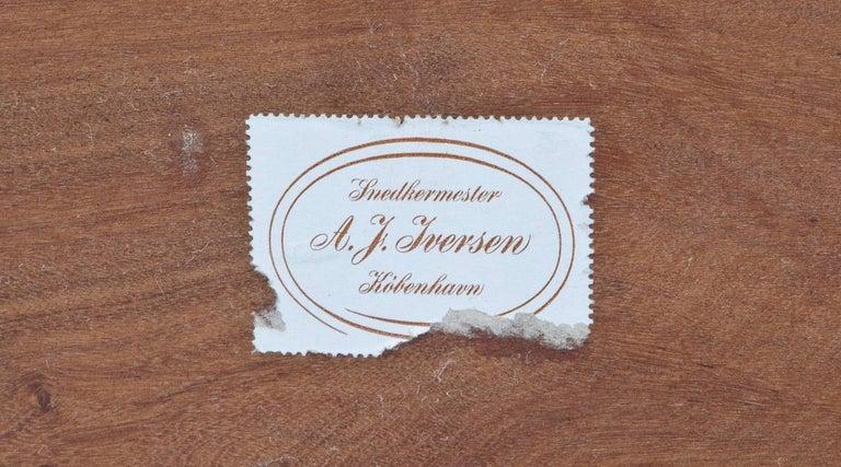 1960s Wooden Teak Side Table by Ole Wanscher 'c' In Excellent Condition For Sale In Frankfurt, Hessen, DE