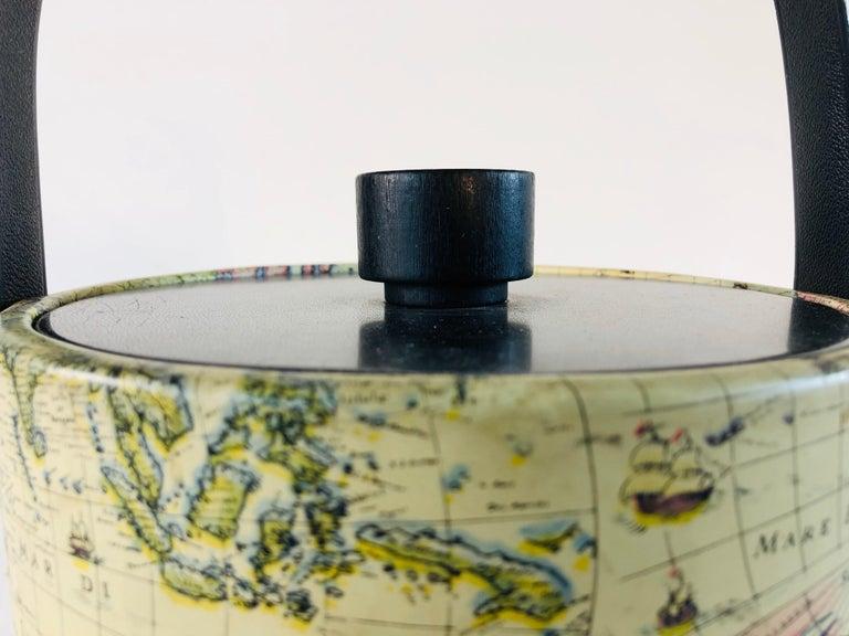 20th Century 1960s World Globe Style Ice Bucket For Sale