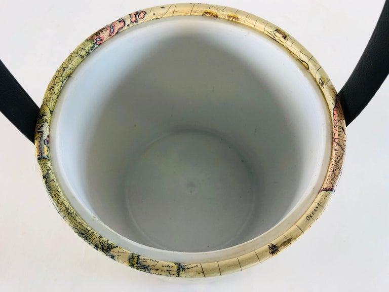 Plastic 1960s World Globe Style Ice Bucket For Sale