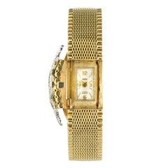 1960s Yellow Gold Diamonds Jewel Ladies Wristwatch