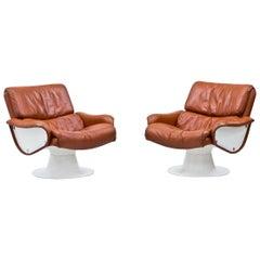 "1960s Yrjö Kukkapuro ""Saturnus"" Lounge Chairs"