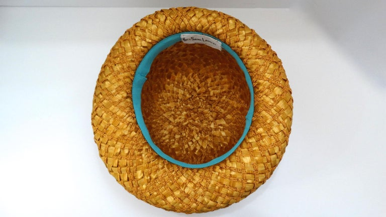 Yves Saint Laurent 1960s Mixed Straw Bowler Hat  For Sale 2