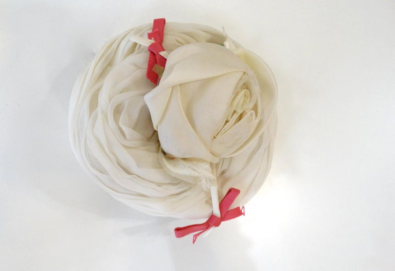 Yves Saint Laurent 1960s Rose Fascinator  For Sale 5