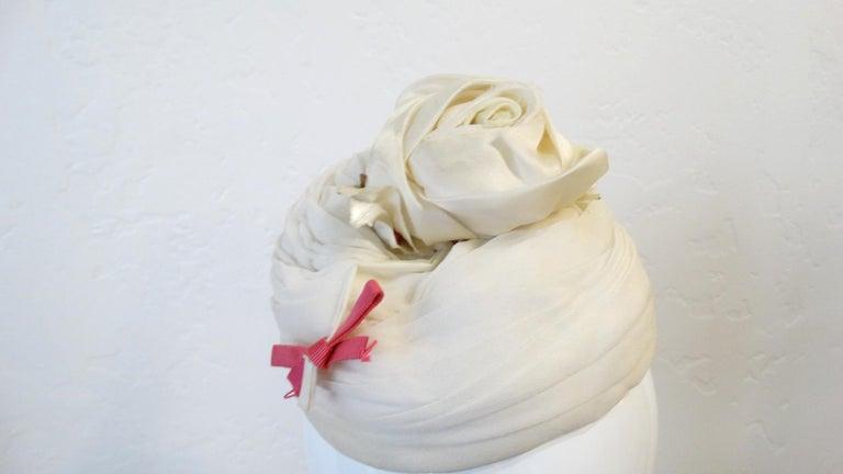 Women's or Men's Yves Saint Laurent 1960s Rose Fascinator  For Sale