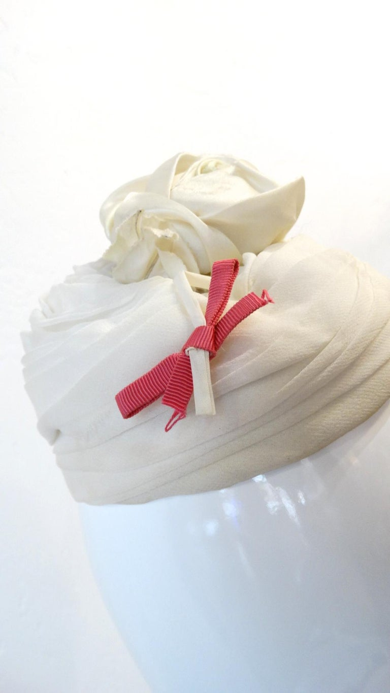 Yves Saint Laurent 1960s Rose Fascinator  For Sale 2