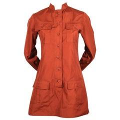1960's YVES SAINT LAURENT rust safari tunic
