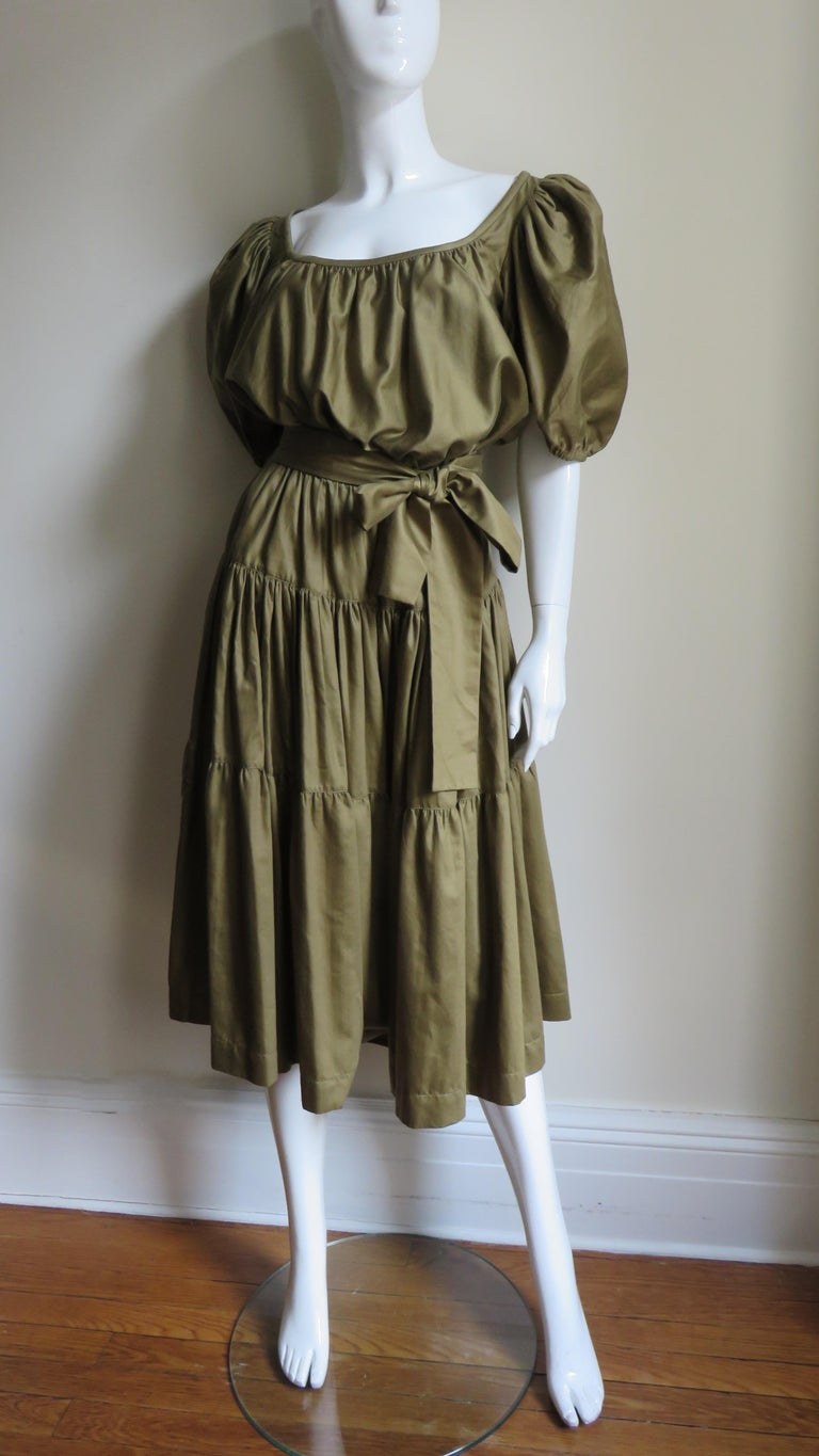1960s Yves St Laurent Rive Gauche Peasant Skirt and Top For Sale 5