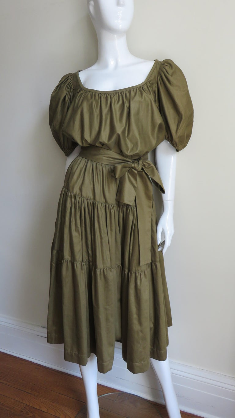 1960s Yves St Laurent Rive Gauche Peasant Skirt and Top For Sale 4