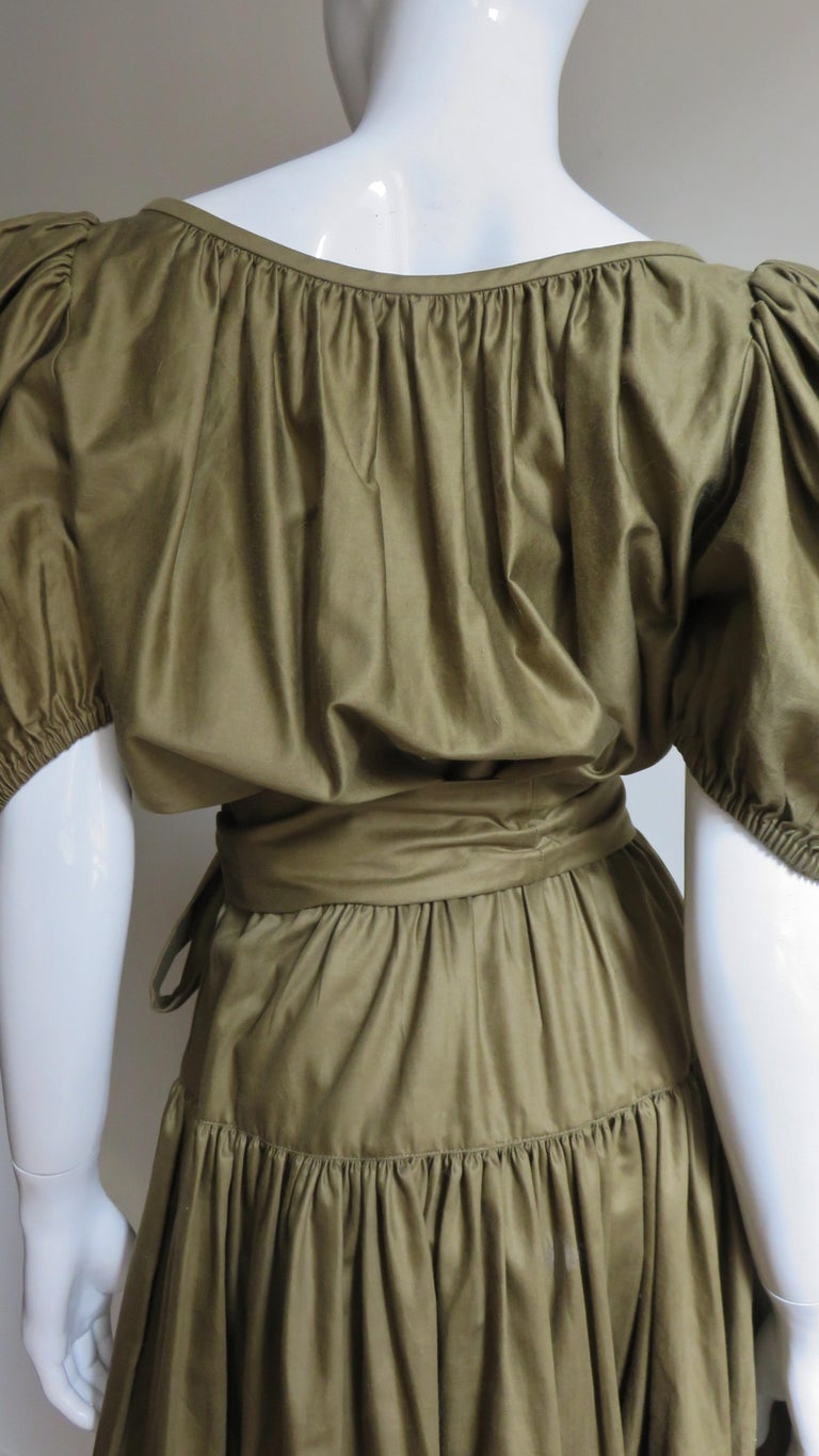 1960s Yves St Laurent Rive Gauche Peasant Skirt and Top For Sale 8
