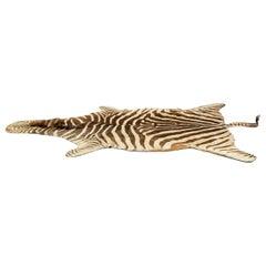 1960s Zebra Skin Rug