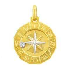 1960s Zodiac Gold Pendant