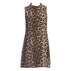 1960S Acrylic Blend Faux Fur Leopard Dress