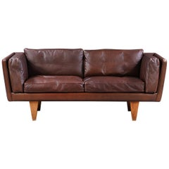 1960ties Illum Wikkelsoe V11, 2-Seat Sofa by Holger Christensen