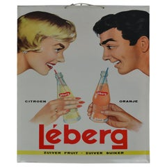 1961 Tin Advertising Sign for Lemonade, Belgium