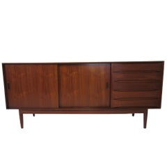 1962 Danish Teak Credenza in the Style of Johannes Aasbjerg and Arne Vodder