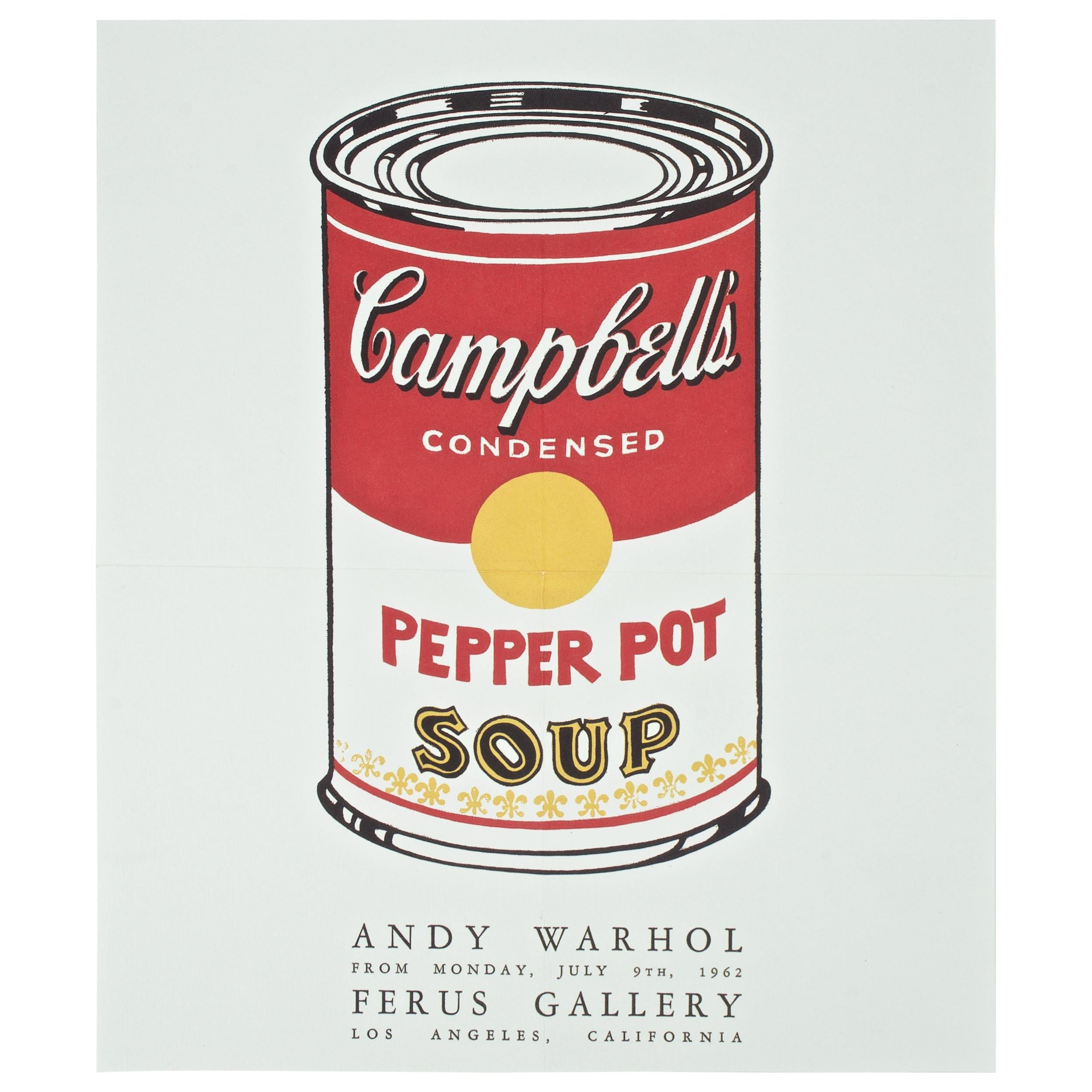 Ferus Gallery Los Angeles Promo Andy Warhol Campbells Soup Can Pop Art Show