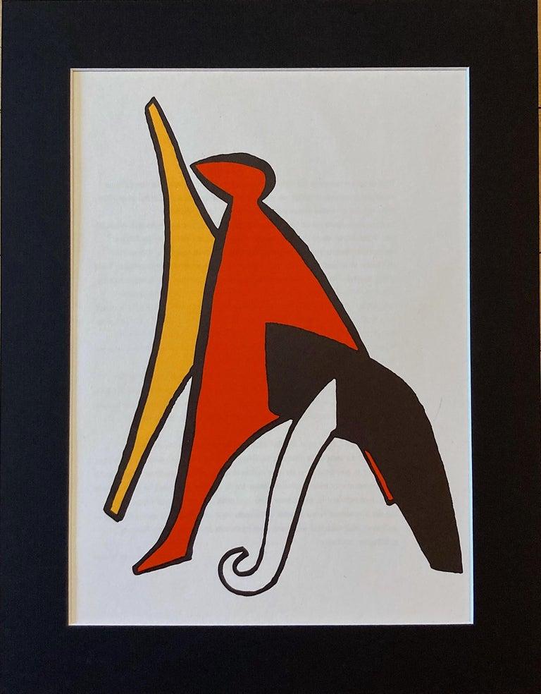 Modern 1963 Alexander Calder Stabiles Lithograph for Derriere le Miroir No. 141 For Sale