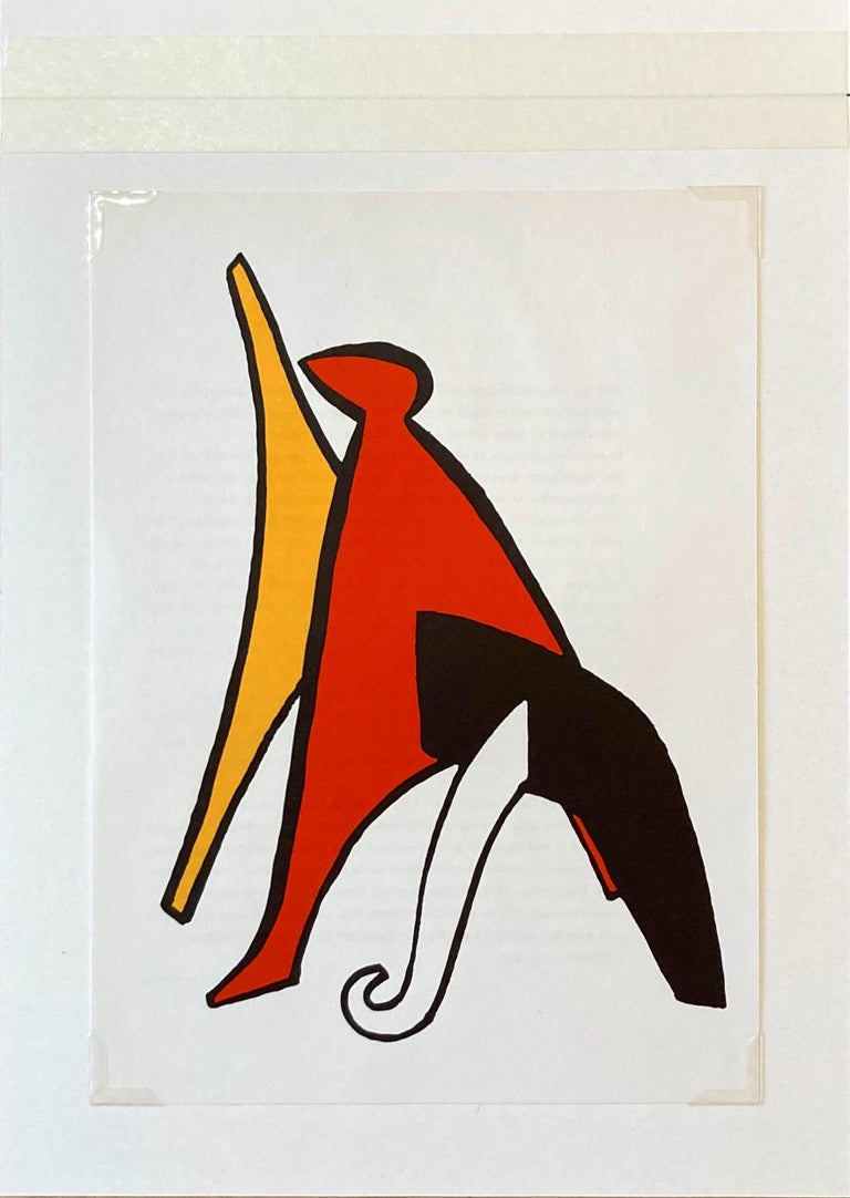 French 1963 Alexander Calder Stabiles Lithograph for Derriere le Miroir No. 141 For Sale