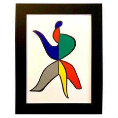 1963 Alexander Calder Stabiles Lithograph for Derriere le Miroir No. 141