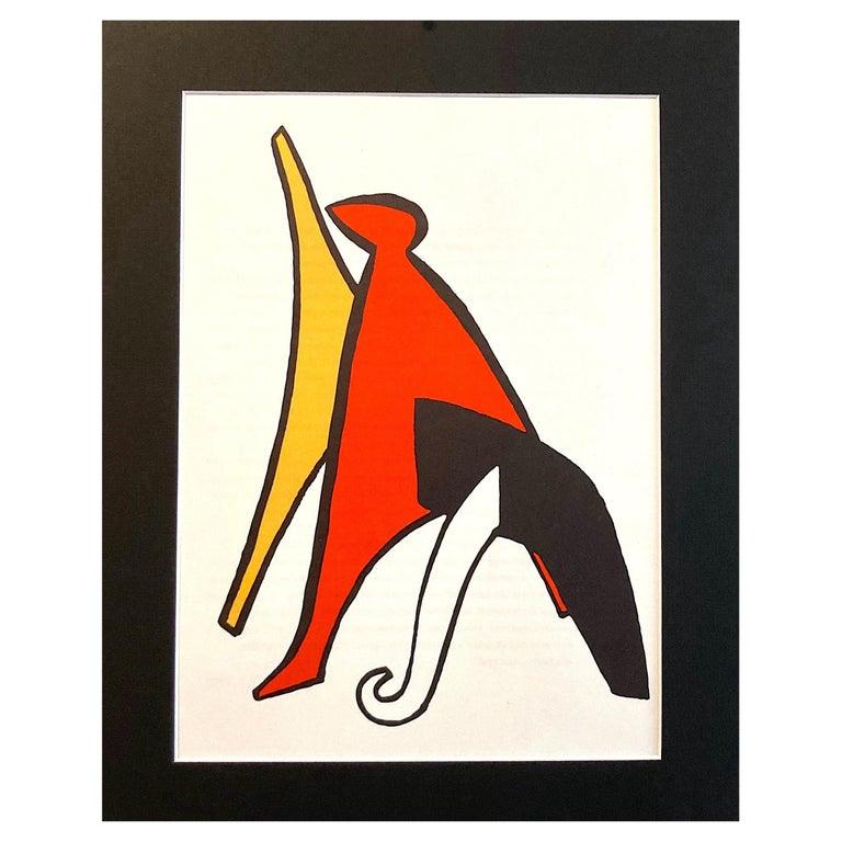 1963 Alexander Calder Stabiles Lithograph for Derriere le Miroir No. 141 For Sale
