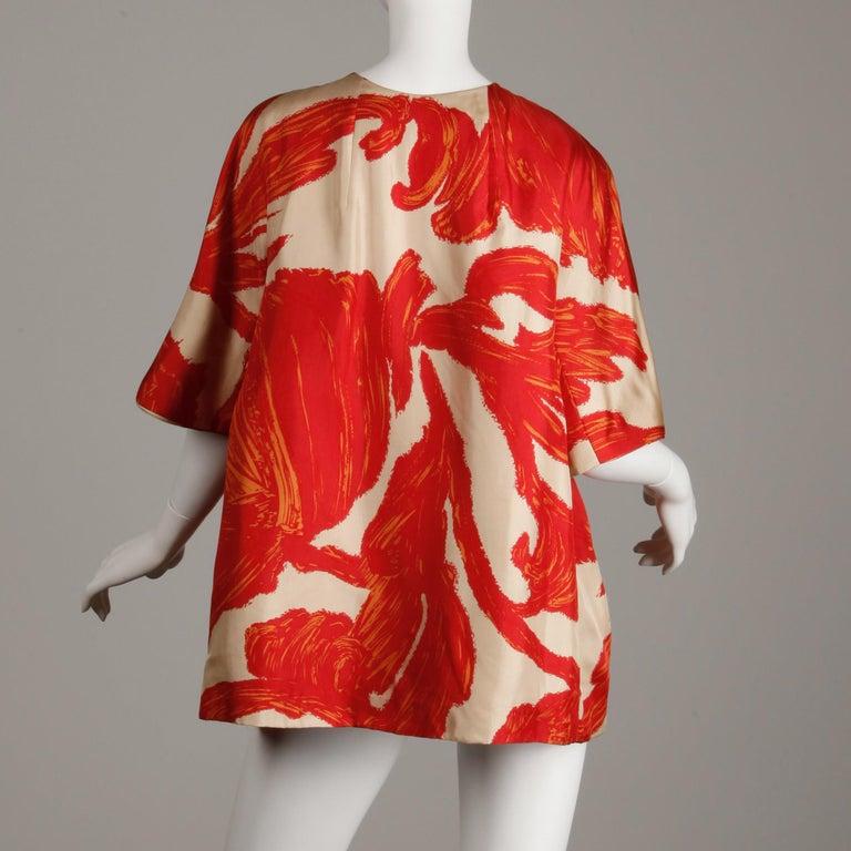 1963 B.H. Wragge Vintage Silk Jacket or Coat For Sale 5