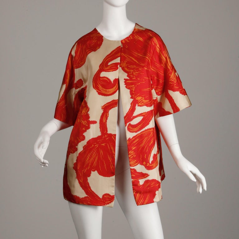 Women's 1963 B.H. Wragge Vintage Silk Jacket or Coat For Sale