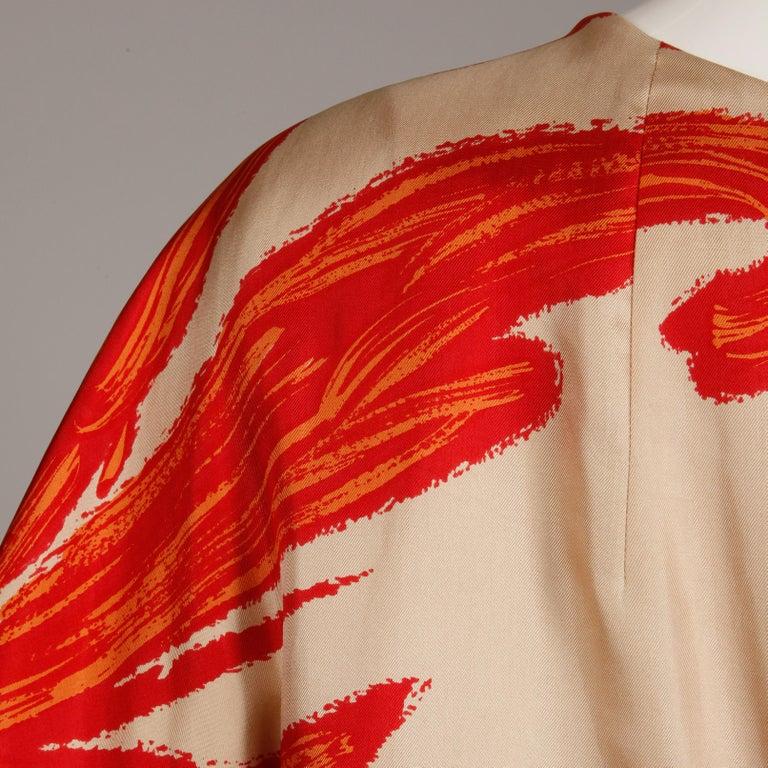 1963 B.H. Wragge Vintage Silk Jacket or Coat For Sale 1