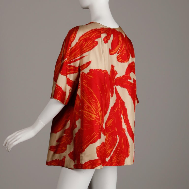 1963 B.H. Wragge Vintage Silk Jacket or Coat For Sale 2