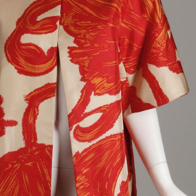1963 B.H. Wragge Vintage Silk Jacket or Coat For Sale 3