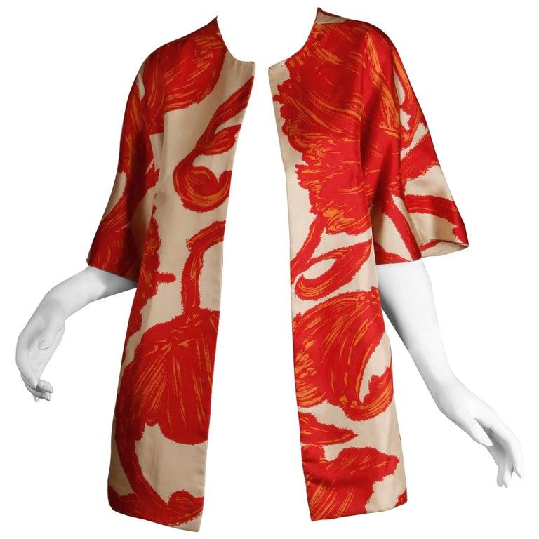 1963 B.H. Wragge Vintage Silk Jacket or Coat For Sale