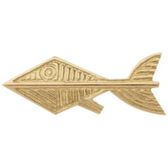 "1963 Georges Braque Gold  ""Alphée"" Brooch"