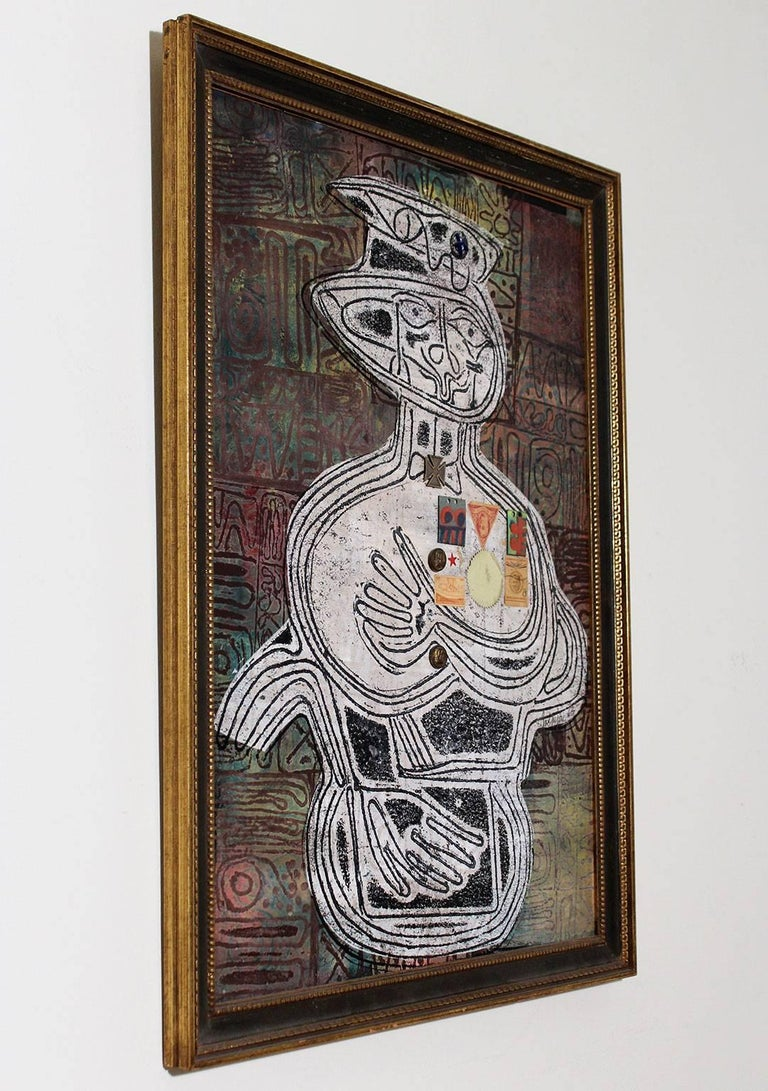 American 1963 Joe Nyiri Abstract Monoprint For Sale