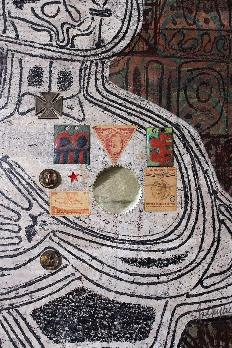 20th Century 1963 Joe Nyiri Abstract Monoprint For Sale