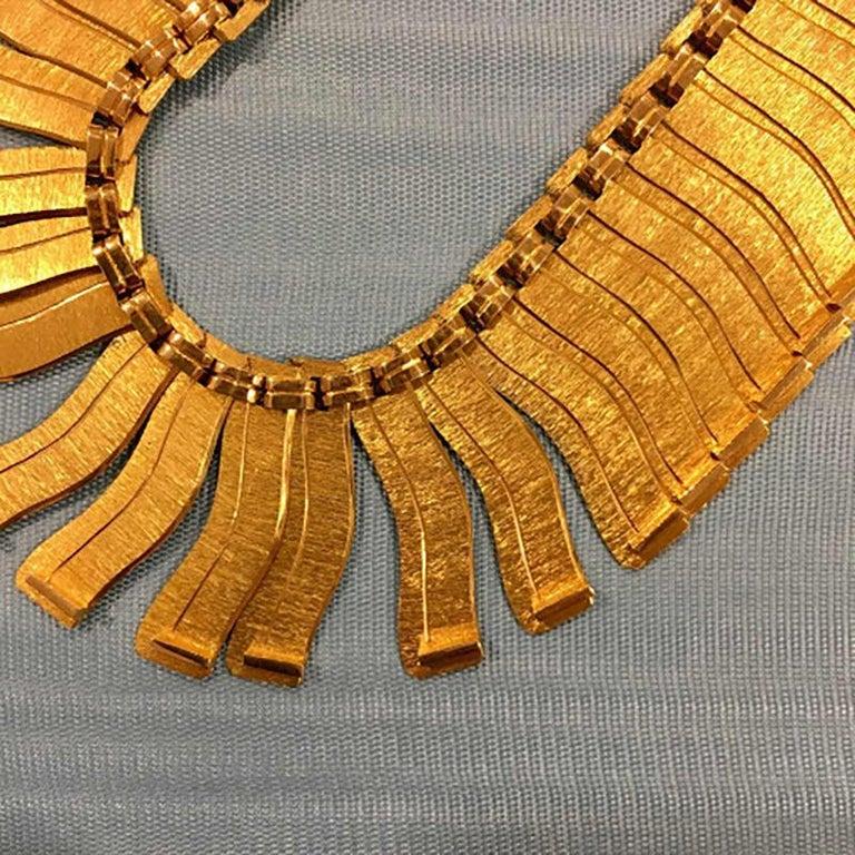 Modernist 1963 Leo Torikainen 18 Karat Gold Collar Necklace For Sale