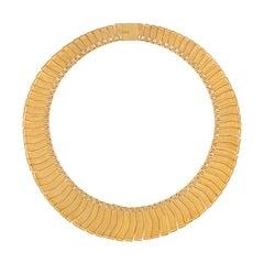 1963 Leo Torikainen 18 Karat Gold Collar Necklace