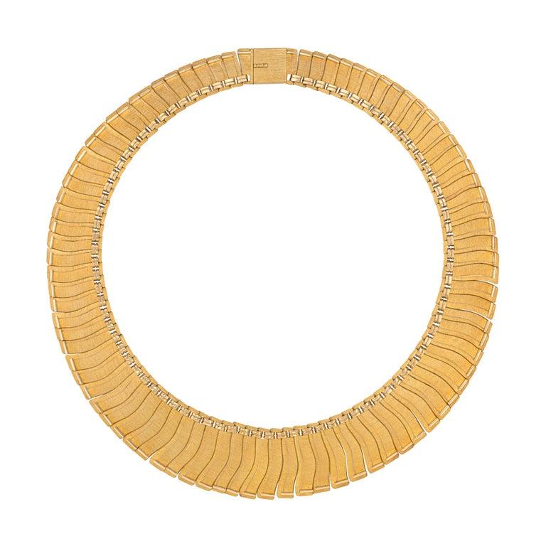 1963 Leo Torikainen 18 Karat Gold Collar Necklace For Sale