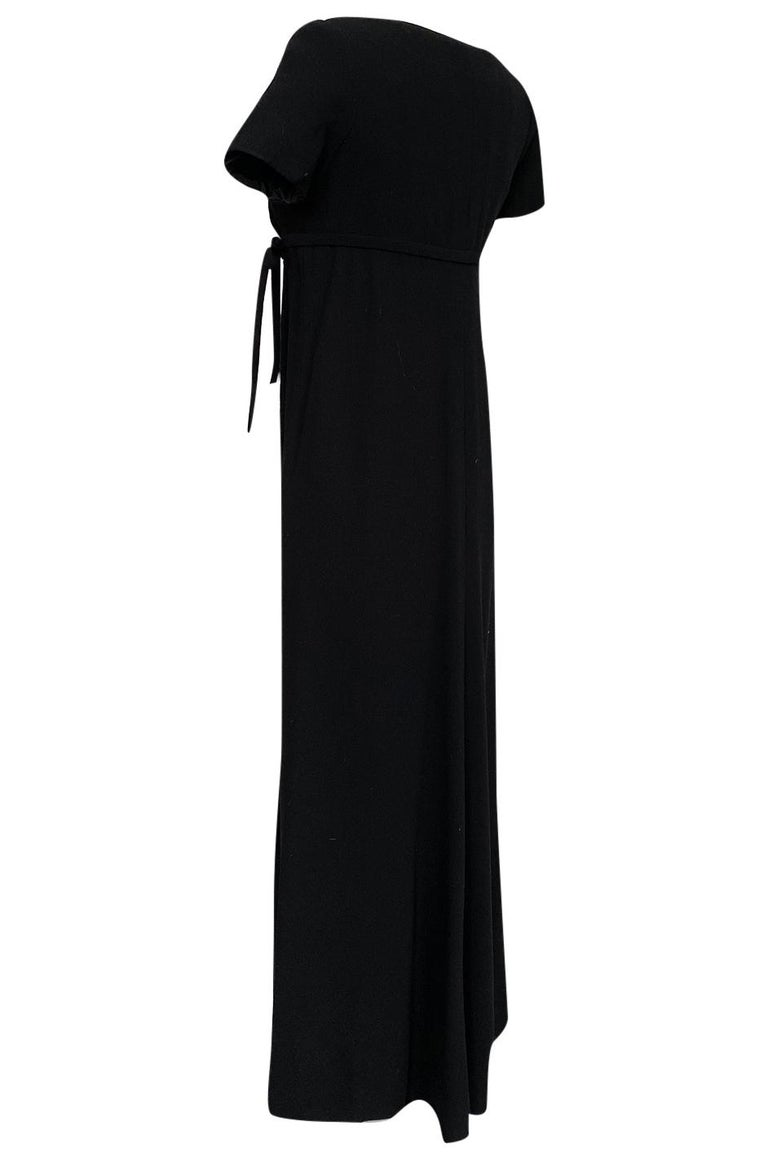 1963 Norman Norell Judy Garland Black Crepe Sheath Button Dress For Sale 1