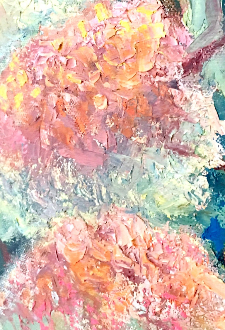 1963 Original Oil On Canvas Painting by, Maria Gerstman For Sale 4