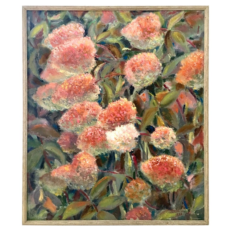 1963 Original Oil On Canvas Painting by, Maria Gerstman For Sale