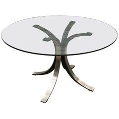 1963, Osvaldo Borsani and Eugenio Gerli, Tecno, T69 Round Glass Dining Table