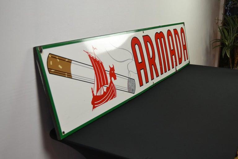 1963 Porcelain Sign for Cigarettes Armada For Sale 4