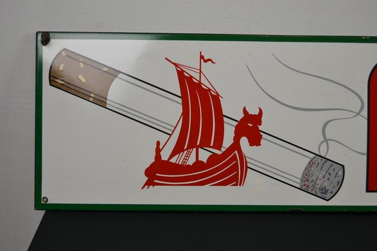 European 1963 Porcelain Sign for Cigarettes Armada For Sale