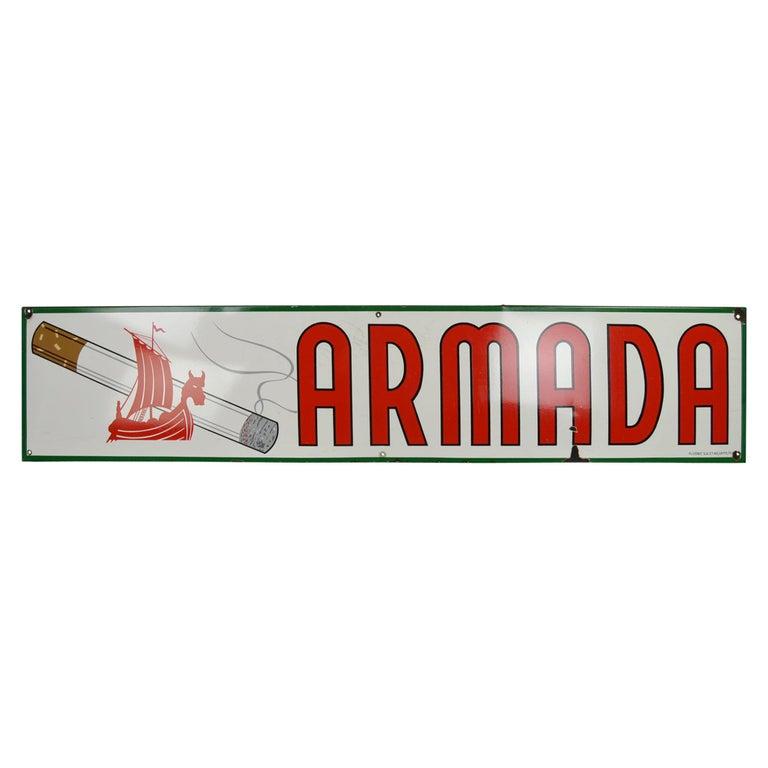 1963 Porcelain Sign for Cigarettes Armada For Sale